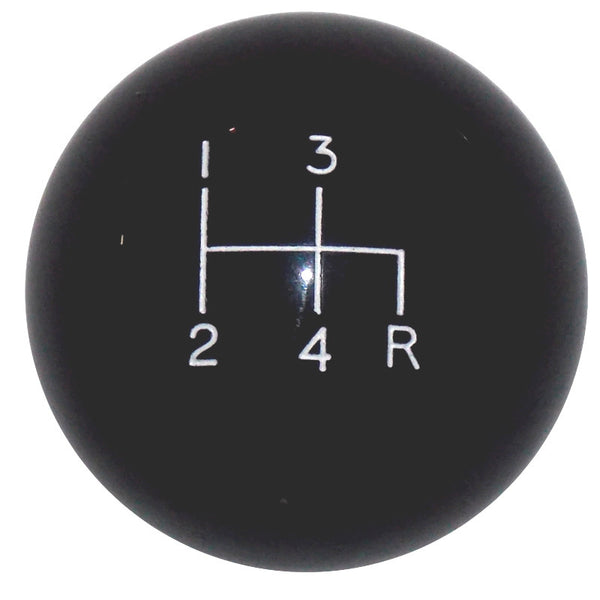 Black 4 Speed Shift Knob Reverse Down Right