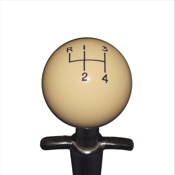 1-7/8 Ivory Muncie 4 speed Pattern Shift Knob