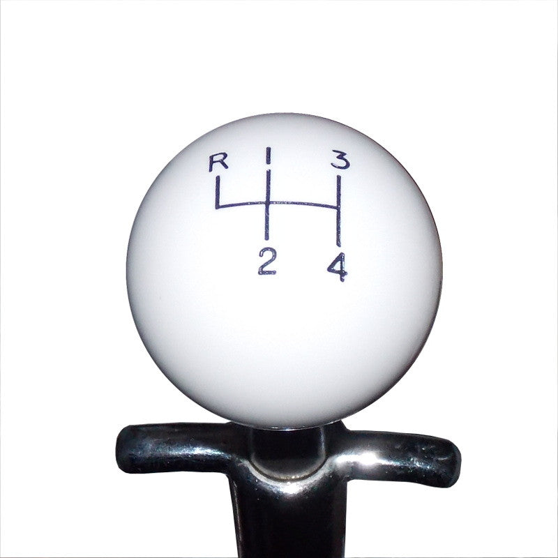 1-7/8 White Muncie 4 Speed Pattern Shift Knob