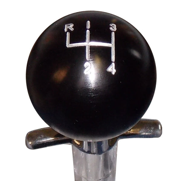 Black Aluminum Muncie 4 Speed Pattern Shift Knob
