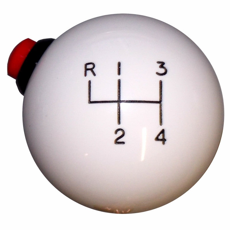 White 4 Speed Side Button Shift Knob