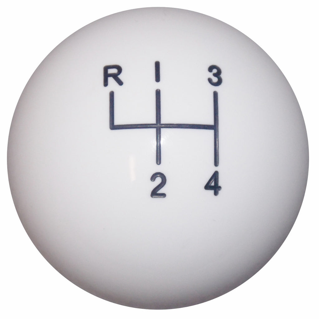 White 4 Speed Shift Knob