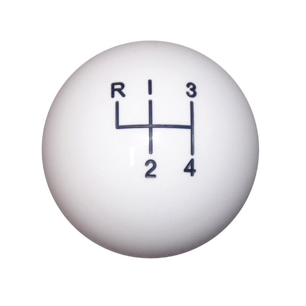 "1-7/8"" White 4 Speed Shift Knob"