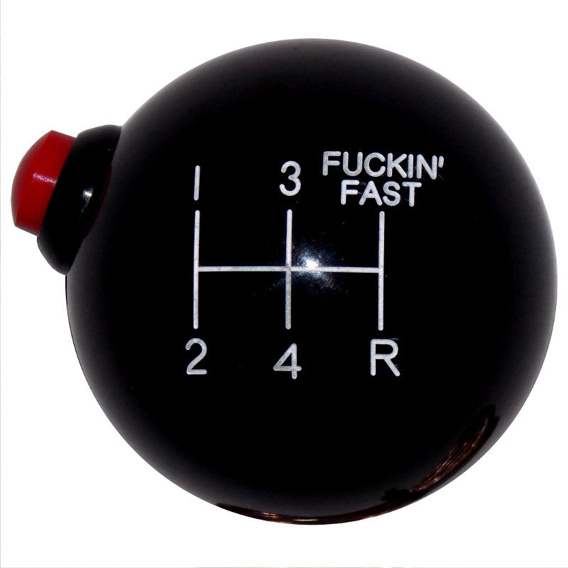 Black F-in Fast 5 Speed Side Button Shift Knob