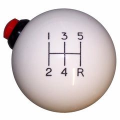 White 5 Speed Side Button Shift Knob