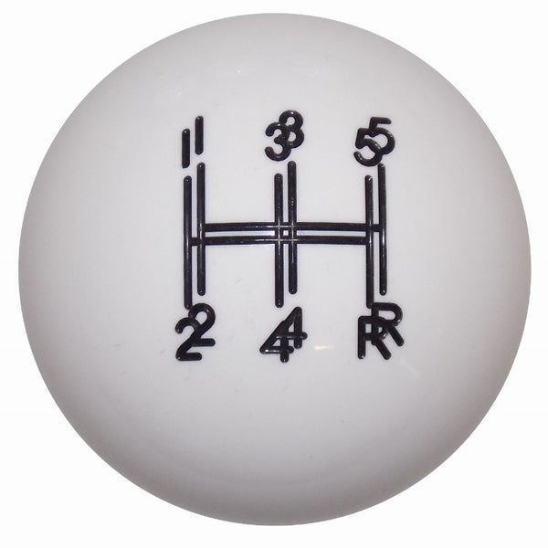 Shaker 5 Speed White Shift Knob
