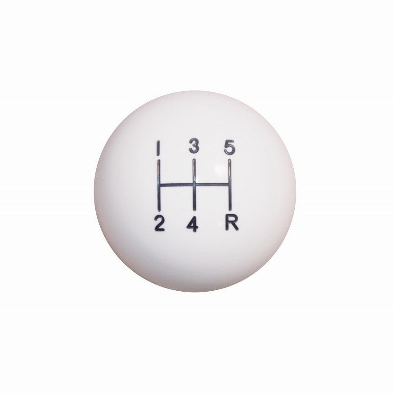 "1-7/8"" White 5 Speed Shift Knob"