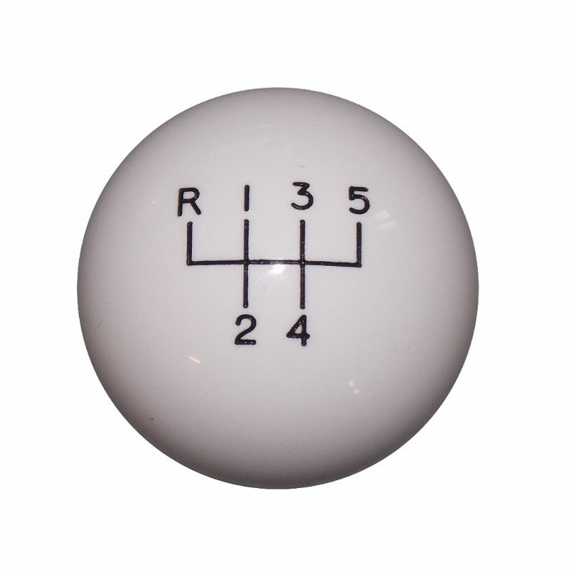 "1-7/8"" White 5UR RUL Shift Knob"