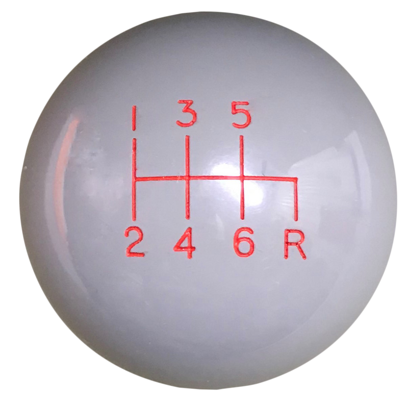 Image of Gray 6 speed Reverse Down Right Shift Knob