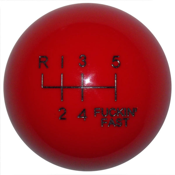 F-in Fast New 6 Speed Red Shift Knob
