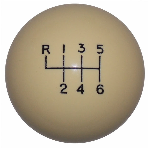 2015-17 Mustang Ivory 6 Speed Shift Knob