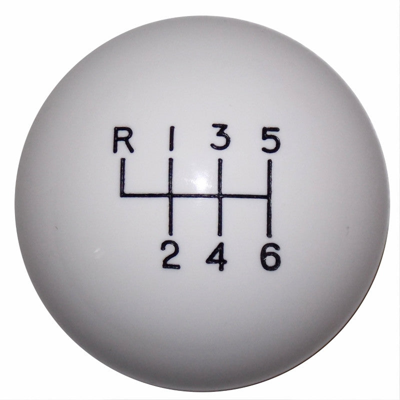2015- 17 Mustang White 6 Speed Shift Knob
