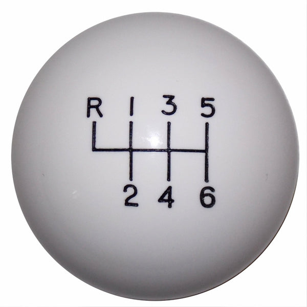 2015-17 Mustang White 6 Speed Shift Knob