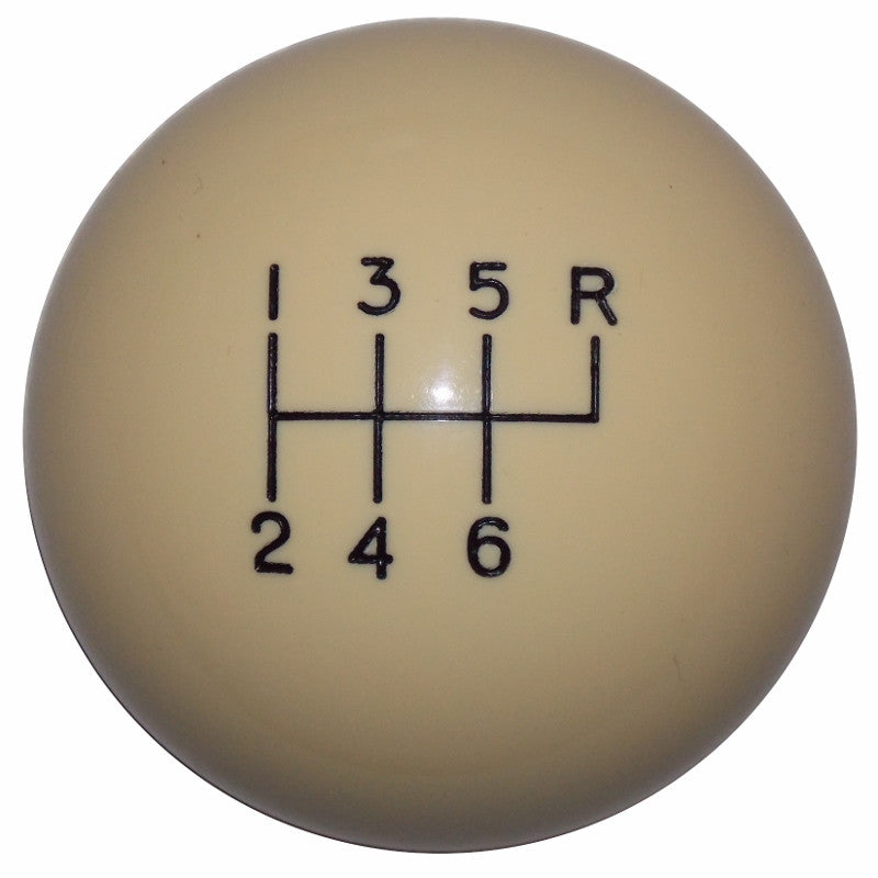 Ivory 6 Speed C5 Shift Knob