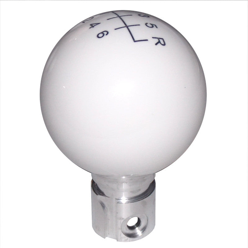 C6 Corvette White 6 Speed Pattern Shift Knob