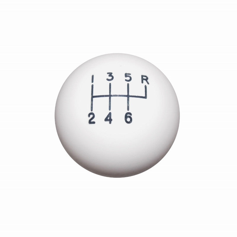 "1-7/8"" White 6 Speed C5 Shift Knob"