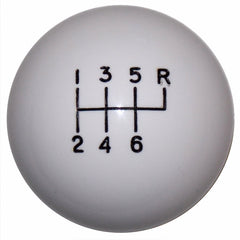 White 6 speed C5 Shift Knob