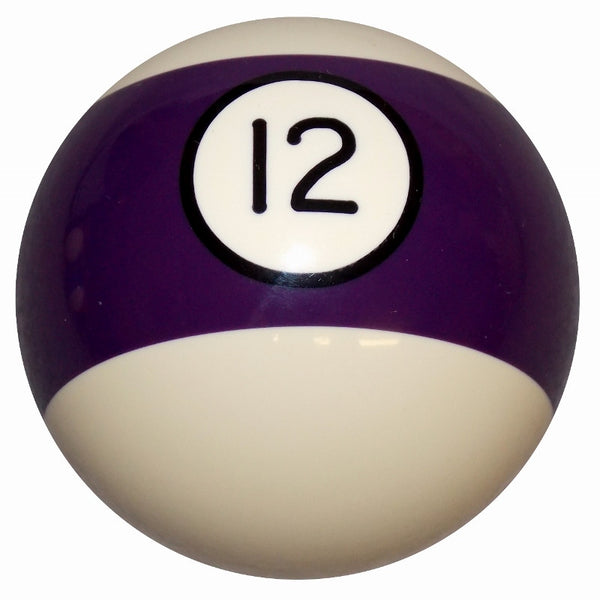 12 Ball Purple Stripe Billiard Brake Knob
