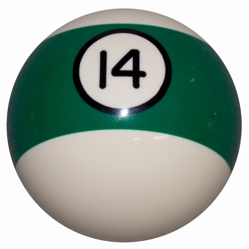 14 Ball Green Stripe Billiard Brake Knob
