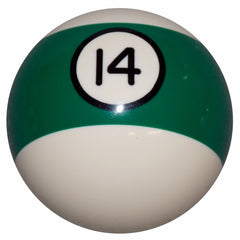 14 Ball Green Stripe Billiard Shift Knob