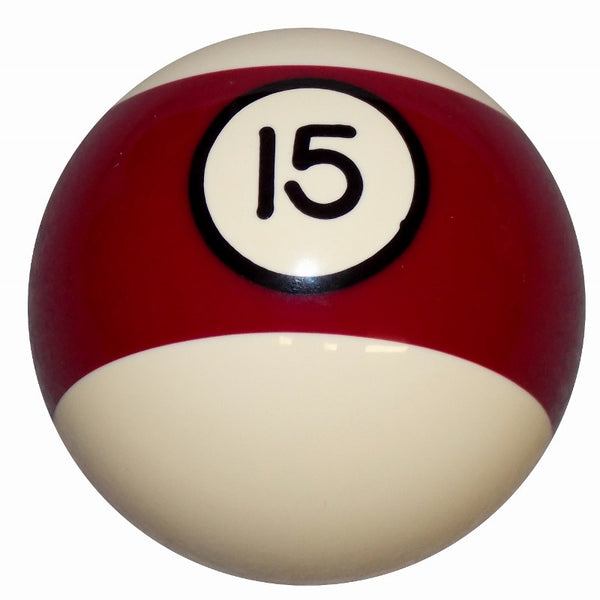 15 Ball Burgundy Stripe Billiard Brake Knob