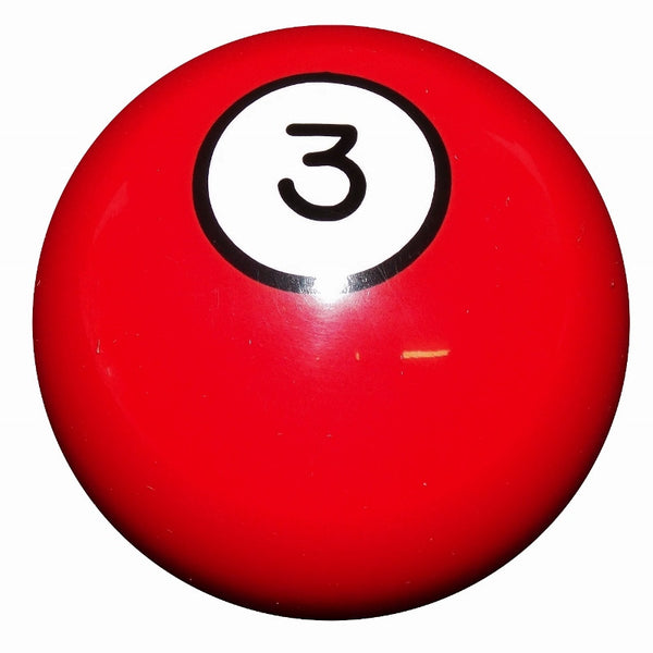 3 Ball Red Billiard Brake Knob