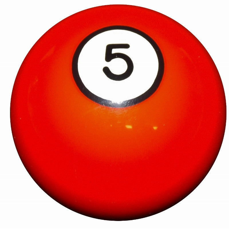 5 Ball Orange Billiard Brake Knob
