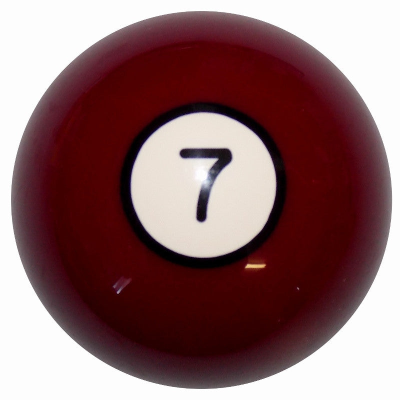 7 Ball Burgundy Billiard Brake Knob