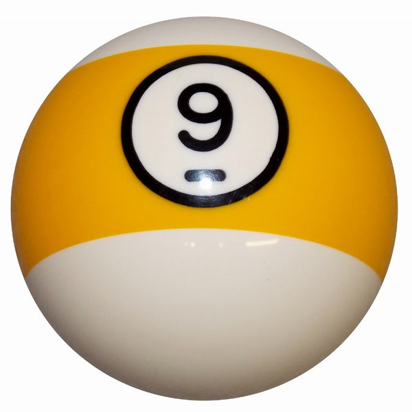 9 Ball Yellow Stripe Billiard  Brake Knob
