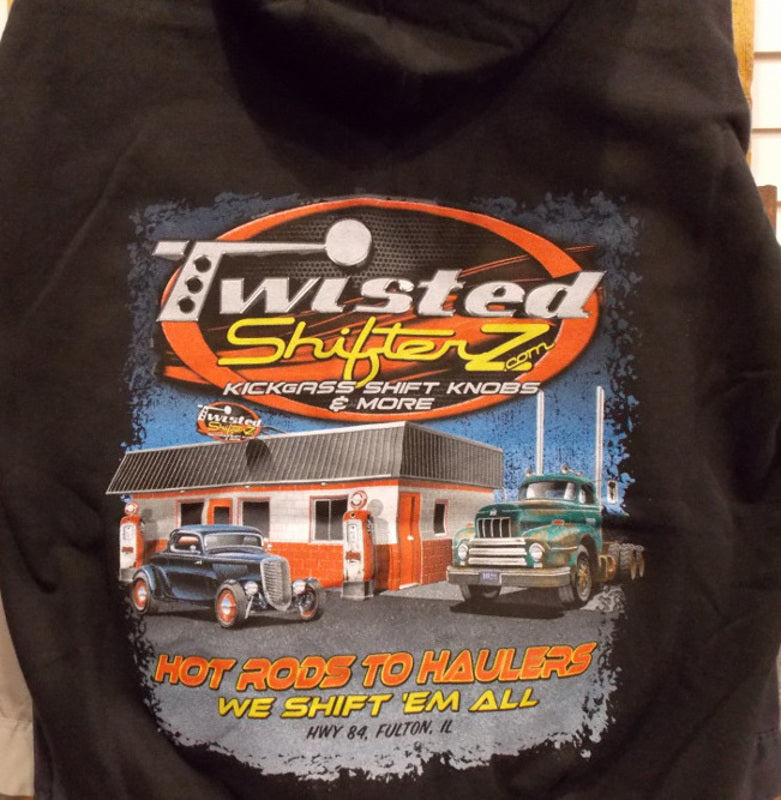 Twisted Shifterz Hoodies Vintage Gas Station Scene