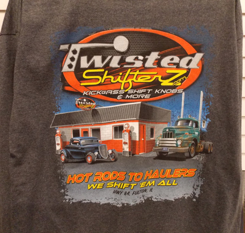 Twisted Shifterz Long Sleeve Shirts Vintage Gas Station Scene