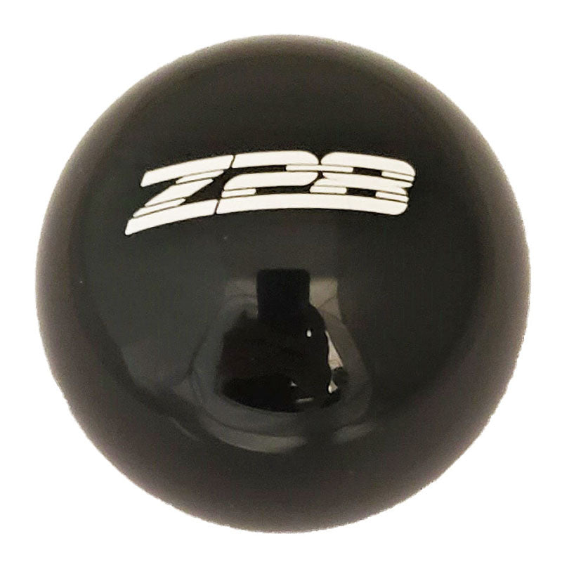 BLACK WITH WHITE Z28 LOGO SHIFT KNOB
