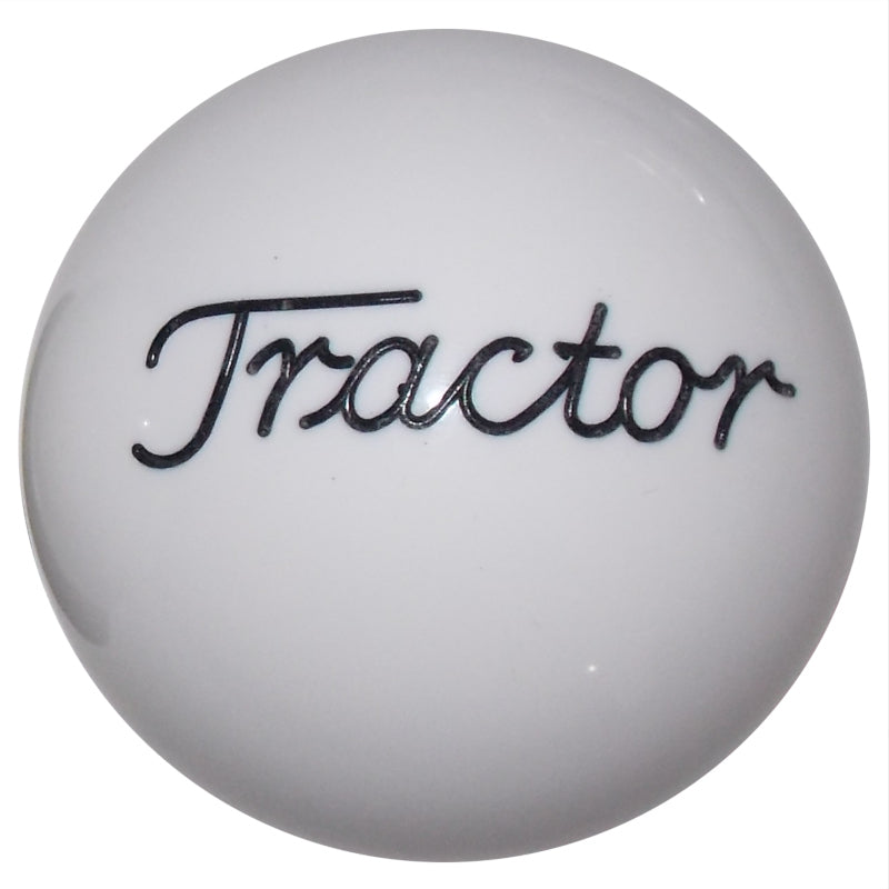 Solid White Tractor Brake Knob
