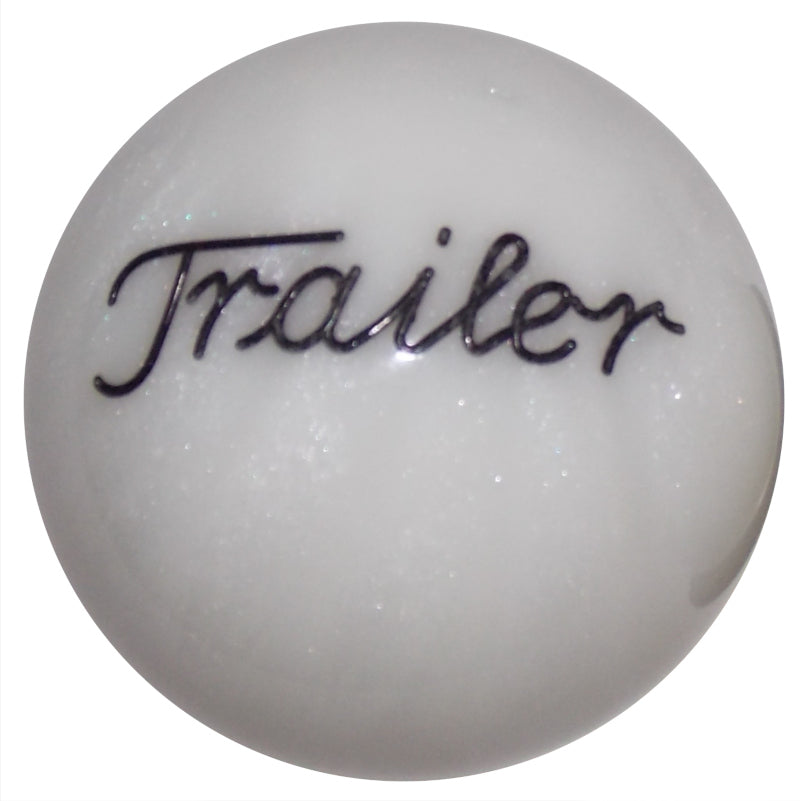 Pearl White Trailer Brake Knob
