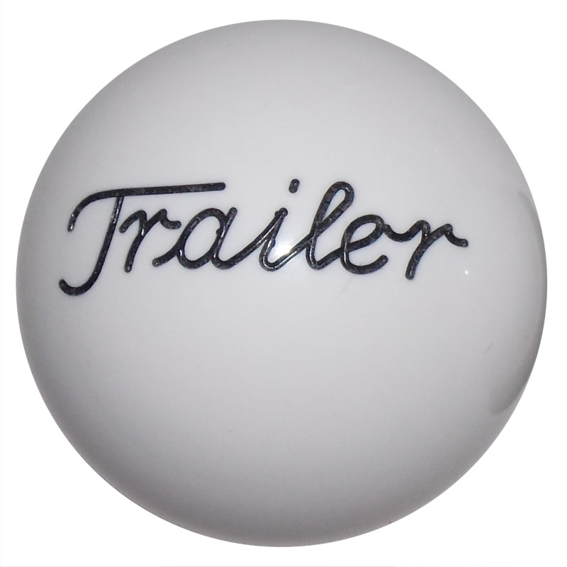 Solid White Trailer Brake Knob