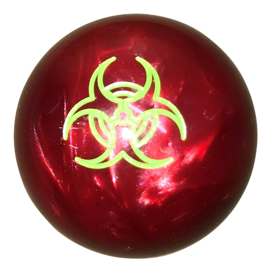 image of Zombie Bio Hazard Pearl Red with Green Shift Knob
