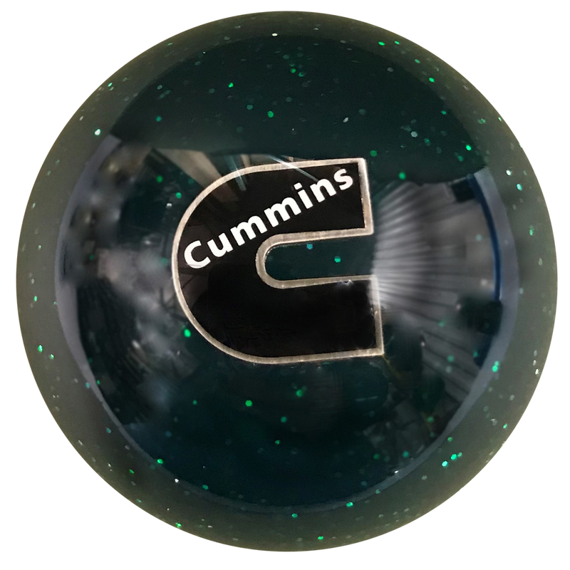 image of Cummins C Logo Green Glitter Brake Knob
