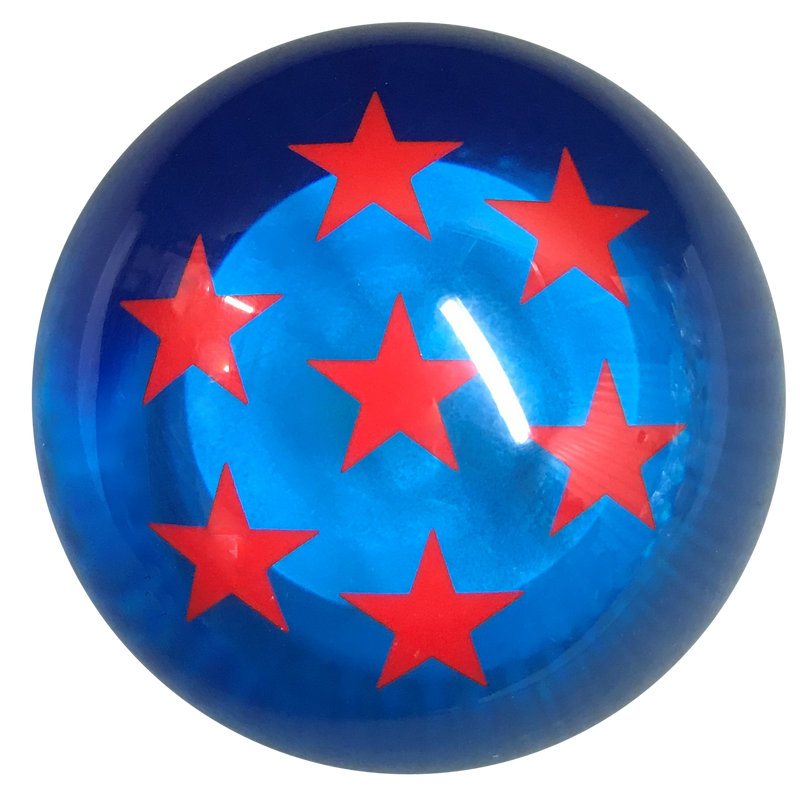 image of Blue Dragon Ball Z Brake Knob With 7 Red Stars
