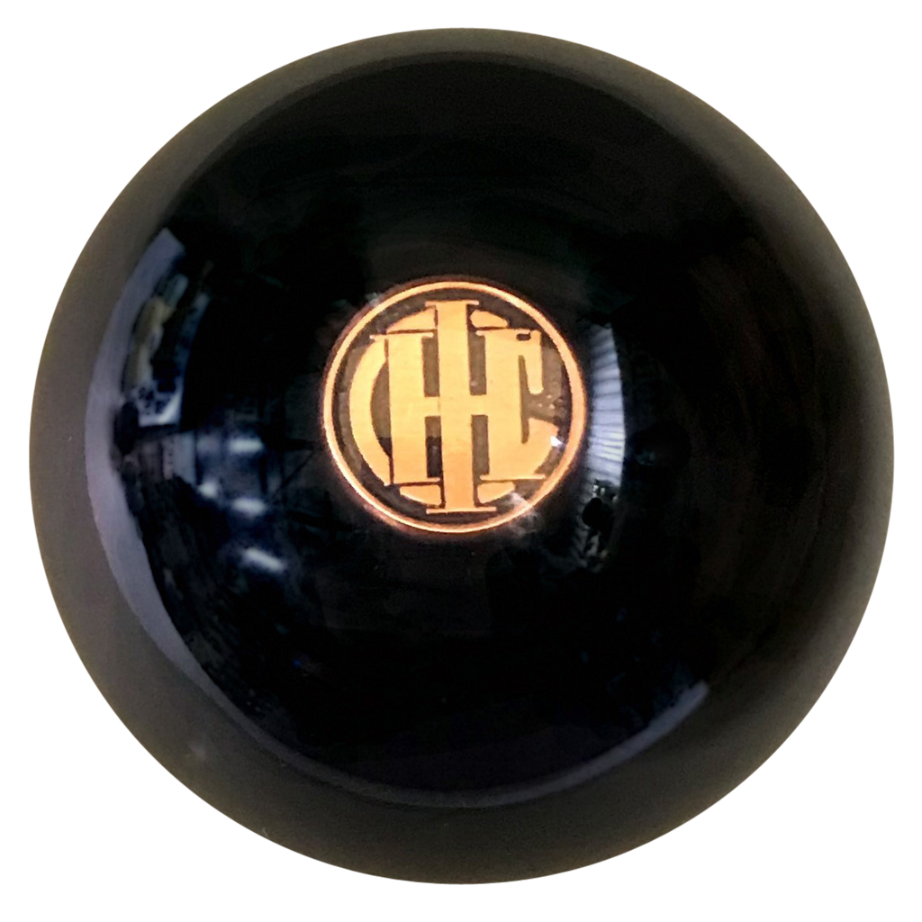 image of Black With Gold IHC Emblem Brake Knob