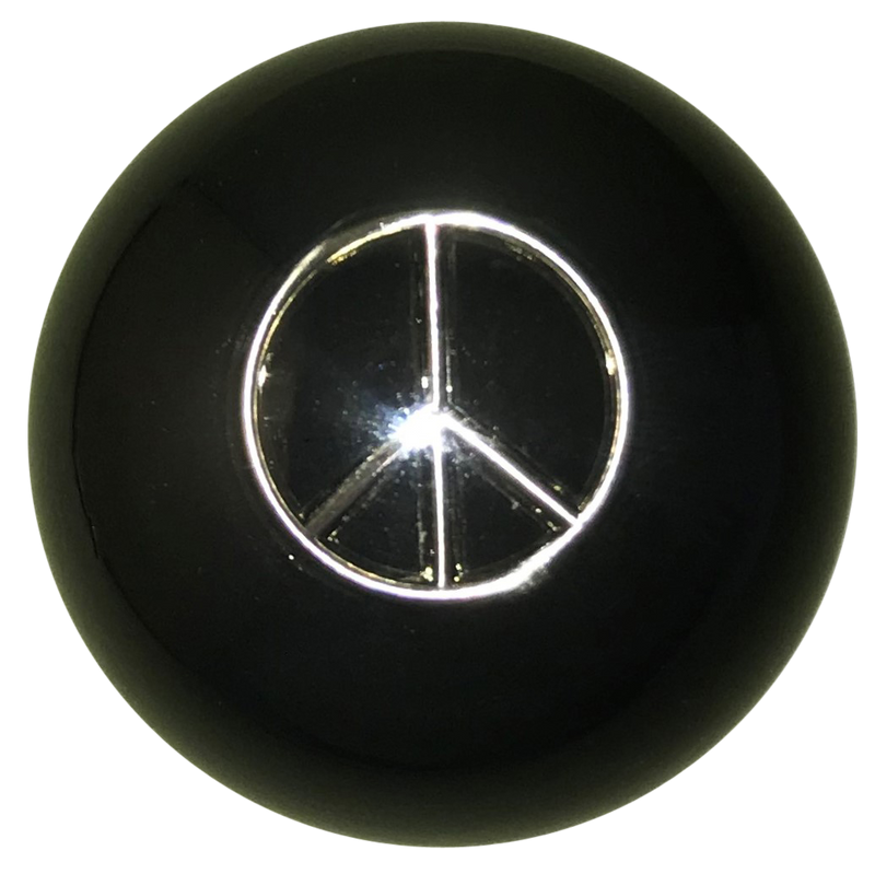 image of Black Peace Sign Brake Knob