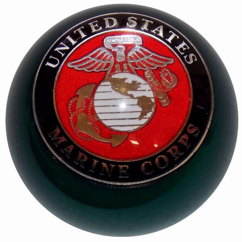 Custom Black United Marine Corps Brake Knob