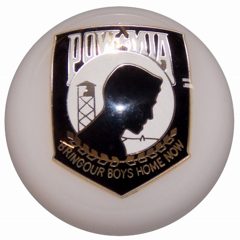 Custom White POW MIA Brake Knob