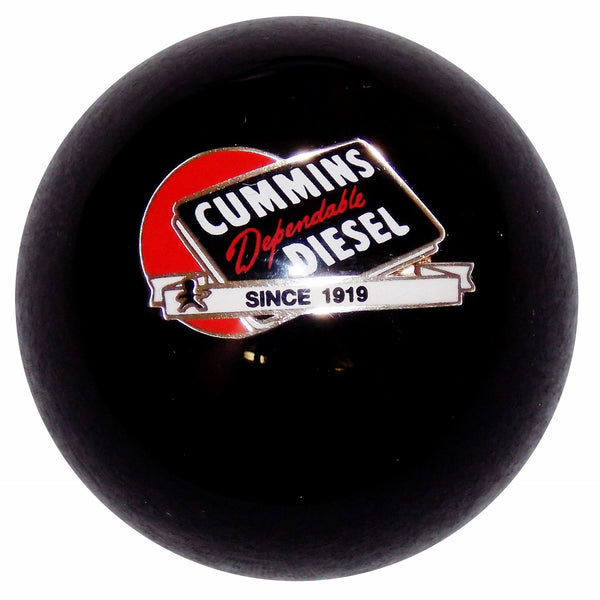 Cummins Dependable Diesel Red Ball Logo Black  Shift Knob