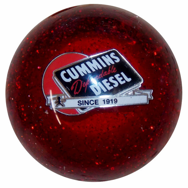 Cummins Dependable Diesel Logo Red Glitter Shift Knob