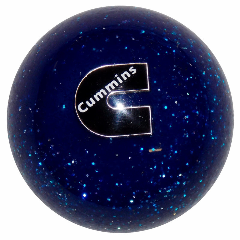 Cummins C Logo Blue Glitter Shift Knob
