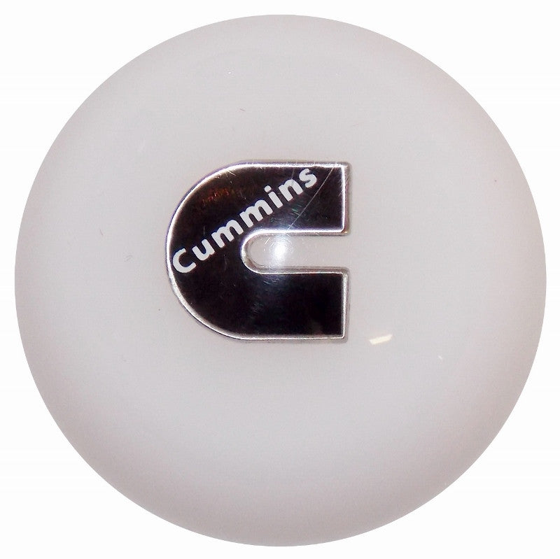Cummins C Logo White Brake Knob