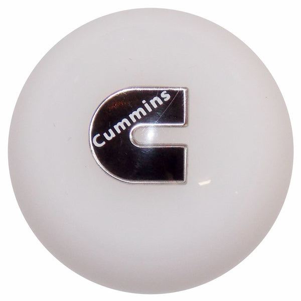 Cummins C Logo White shift knob