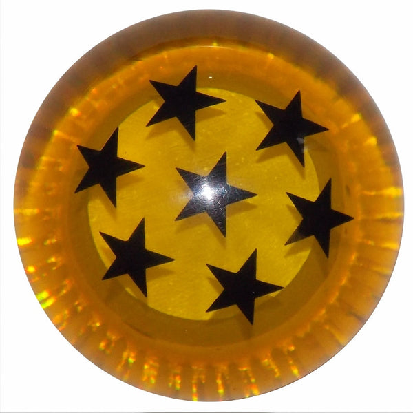 Dragon Ball Z Amber w/ Black Stars Shift Knob