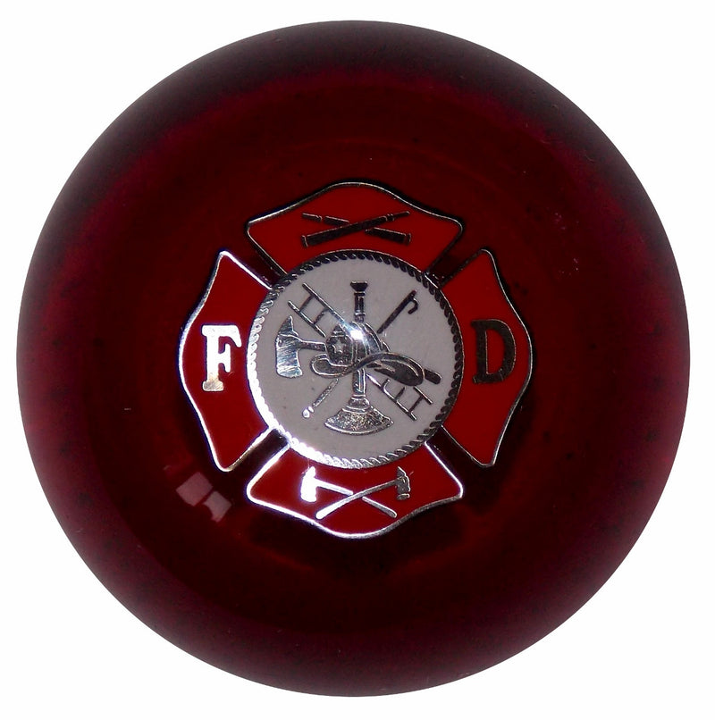 Fire Department Clear Red Shift Knob