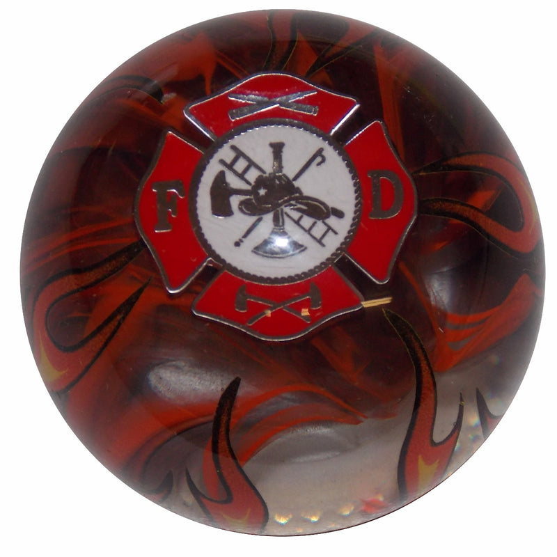 Fire Department Smoky Orange Flame Shift Knob